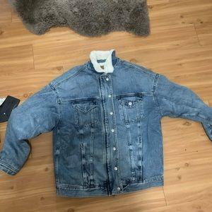 American Eagle faux fur lined jacket